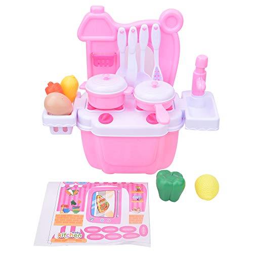 Pssopp Juego de Juguetes de Cocina, Juego de simulación, Juguetes de Cocina, vajilla de Rompecabezas, Mini Estufa de Agua, Juguetes educativos para la Primera Infancia