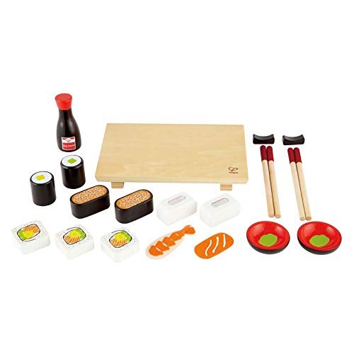 Hape Sushi Selection Kid's Wooden Play Kitchen Food Set and Accessories