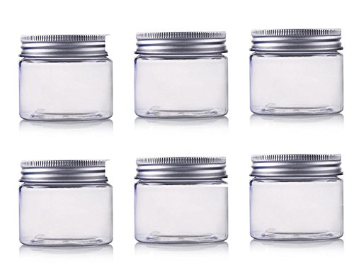 erioctry - Botes de plástico PET para cosméticos con tapas de aluminio, de 150ml