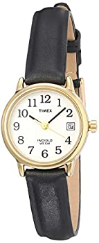 Timex Women s T2H341 Easy Reader Black Leather Strap Watch
