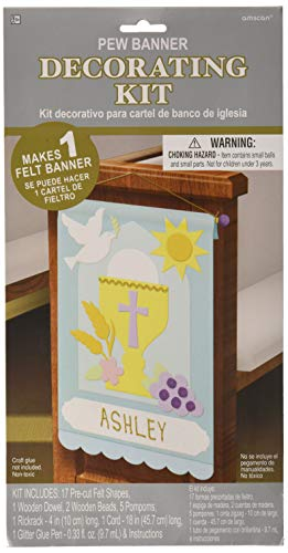 Amscan First Communion Pew Banner Decorating Kit, 1 kit