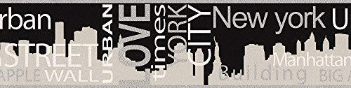 A.S. Création 935671 - Bordo decorativo Boys and Girls 4, New York City, colore: Grigio/Metallo/Nero
