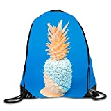 uykjuykj Bolsos De Gimnasio,Mochilas,Designed Wall Sackpack Drawstring Backpack Waterproof Gymsack Daypack For Men Women Art Pineapple8 Lightweight Unique 17x14 IN