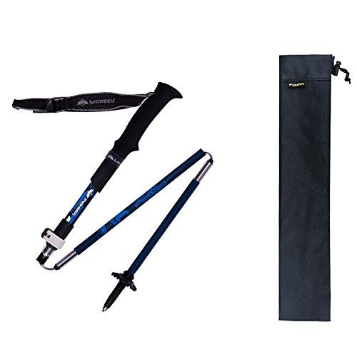 Etopfashion Trekking Pole Climbing Stick with EVA Foam Handle Anti Shock & Folding Trekking Pole/ Hiking Pole (une pièce)