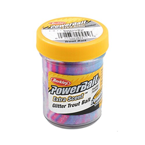 Berkley Powerbait Extra Scent Glitter Trout Bait - Capt. America R/W/B