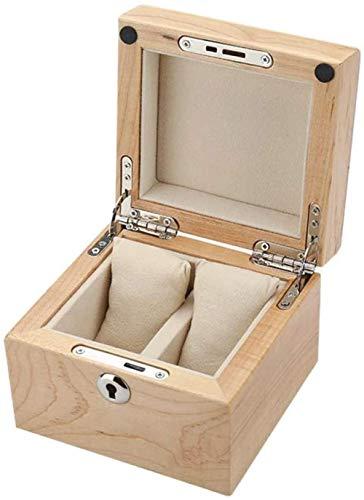 Caja de reloj para hombres, ranuras de madera, organizador de almacenamiento, caja de exposición, regalo exquisito y duradero para cumpleaños, boda, año nuevo, categoría A-B