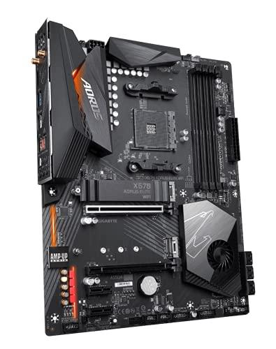 GIGABYTE X570 AORUS Elite Wi-Fi (AMD Ryzen 3000/X570/ATX/PCIe4.0/DDR4/Intel Dual Band 802.11AC Wi-Fi/Front USB Type-C/RGB Fusion 2.0/M.2 Thermal Guard/Gaming Motherboard)