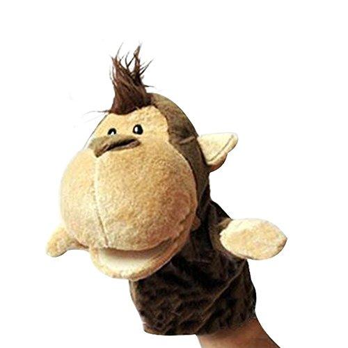 Proumhang Marionetas de Mano Mini muñeca Juguete Peluche Juegos de Animales Bebé Halloween Navidad Día del niño-Mono