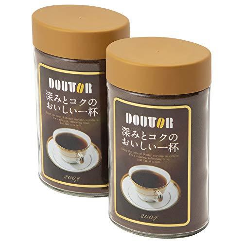 ドトールコーヒー インスタントコーヒー 深みとコクのおいしい一杯(SD) 200g ×2個