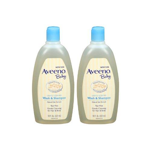 AVEENO Baby Wash & Shampoo 18oz - 2 pack - by Trifing