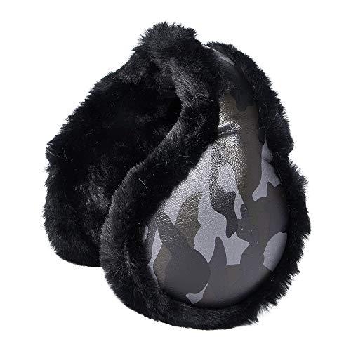 ZLYC Winter Warm Earmuffs Adjustable Ear Warmers for Women Girls Teens (Black)
