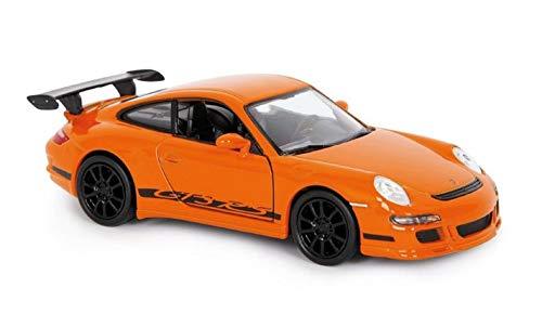 Welly Porsche 911 GT3 RS Orange Model Car 1:32 Escala Die Cast Metal Puertas de apertura