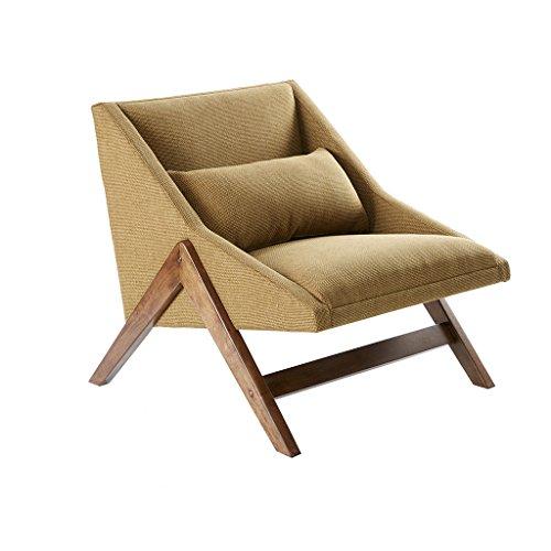 INK+IVY Boomerang Mustard Yellow, Modern, Family Room Sofa Furniture, 30.25