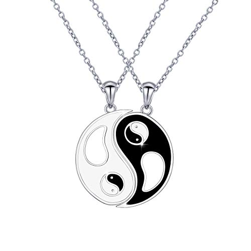 Sterling Silver Yin and Yang Necklace Set