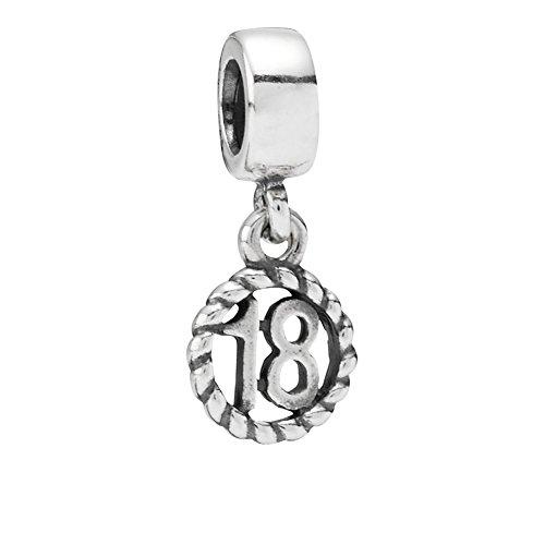 Pandora 790495 - Colgante de 18 cumpleaños