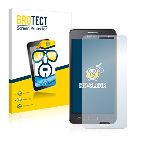 BROTECT Schutzfolie kompatibel mit Samsung Galaxy Grand Prime SM-G531F (2 Stück) klare Bildschirmschutz-Folie