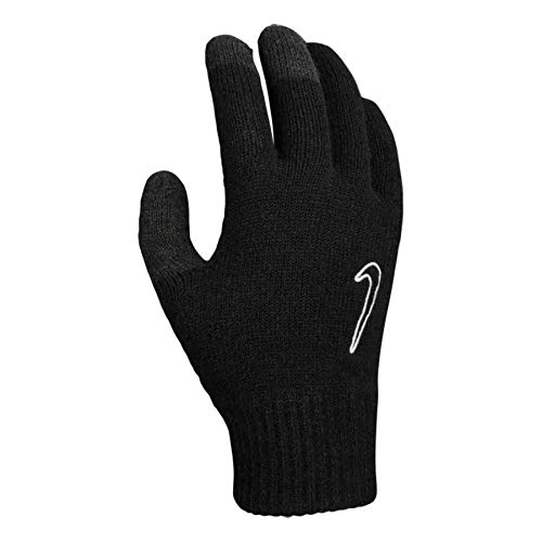 Nike Unisex – Kinder YA Knitted Tech and Grip 2.0 Handschuhe, Schwarz, L/XL