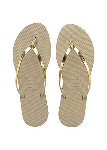 Havaianas Damen You Metallic Zehentrenner, Beige (Sand Grey/Light Golden), 37/38 EU