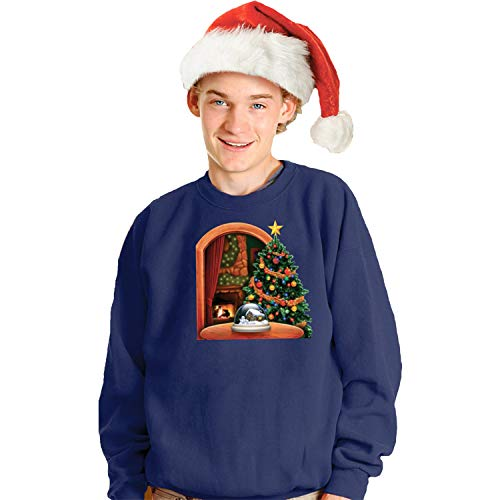 Morphsuits Digital Dudz Christmas Tree Ugly Christmas Sweatshirt, Blue, Small