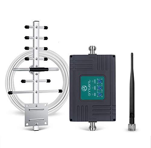 Handy Signalverstärker für O2, Vodafone, T- Mobile, E- Plus 2G/3G/4G LTE Verstärker 900/1800 / 2100MHz Handy GSM Repeater