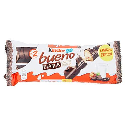 Kinder Bueno Barette Cioccolata Fondente, Pacco da 3 Pezzi