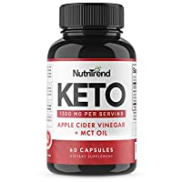 Keto Pills with Apple Cider Vinegar & MCT Oil, BHB Weight Loss Supplement, Detox Support and Immune Health, Manage Cravings & Improve Focus, Boost Energy & Metabolism - 30 Day Supply by NutriTrend from NutriTrend