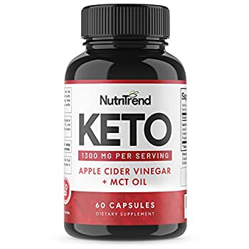 Keto Pills with Apple Cider Vinegar & MCT Oil BHB Weight Loss Supplement Detox Support and Immune Health Manage Cravings & Improve Focus Boost Energy & Metabolism - 30 Day Supply by NutriTrend