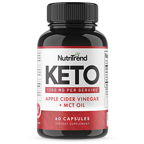 Keto Pills with Apple Cider Vinegar & MCT Oil, BHB Weight...