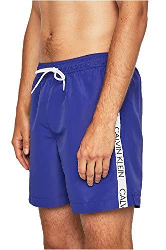 Calvin Klein Herren MEDIUM DRAWSTRING Badehose, Clematis Blue Cdt 93, L