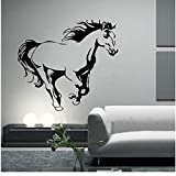Galloping Horse Wall Murals Wall Art Animal Poster Stencils For Wall Decals Horses Wallpaper For Home Decor Wall Stickers 55X60Cm