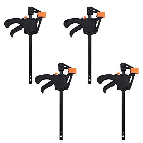 Set mit 4 Klemmen, 4 Stück 4 Zoll / 10,2 cm, Schnellentriegelungsklemmen zum Spannen von Release Ratsche, Holzbearbeitung, Werkzeug-Set für Handarbeiten