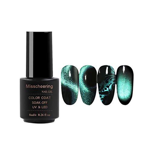 Beaupretty 5d magnetisches Katzenauge Gel Nagellack 5d wunderschöne Finger magnetisches UV Gel Lack 8ml Galaxie Glitzer Gel für Nagelstyling (5d04)