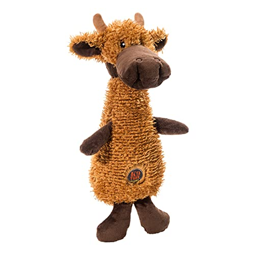 Charming Pet Scruffles Moose Plush Squeaky Dog Toy, Small