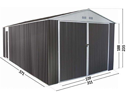 Garage in metallo NEVADA con porta battente - 18,56 m²