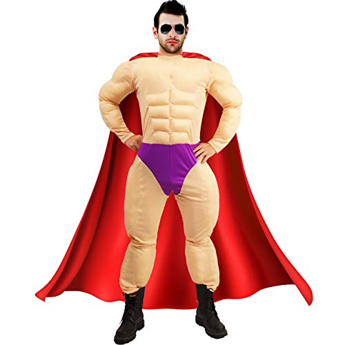 Men's Muscle Jumpsuit Costumes (with cape)