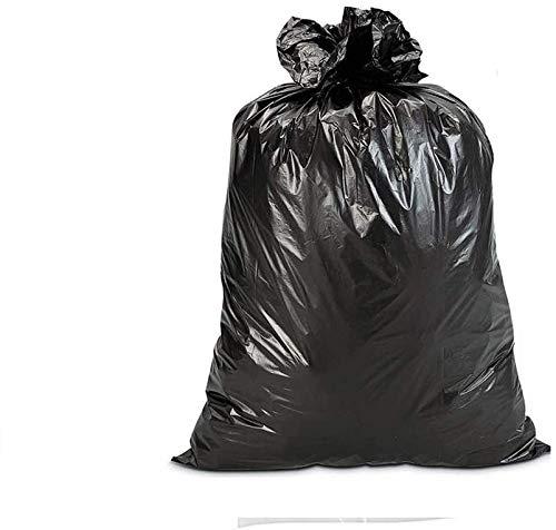 25 zwarte nylon zakken 80 x 120 cm. Zeer robuust voor afval van polyethyleen PE-LD, dikte 80 micron. Zak voor bescherming, bouw, luiers, tuin.