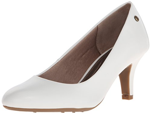 LifeStride Women's Parigi Dress Pump, White, 9.5 Narrow