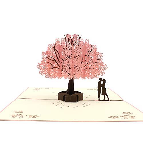 桜の恋人のグリーティングカード(封筒付き)