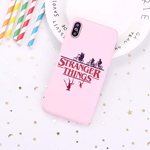LvShui Funda iPhone 7 Plus/iPhone 8 Plus Funda Carcasa Stranger Things Caricatura Silicona Case Cover para Apple iPhone 7 Plus / 8 Plus