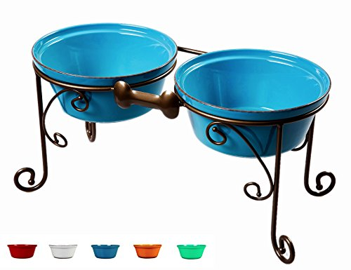 BestVida Sparks Elevated Dog Bowl and Pet Stand
