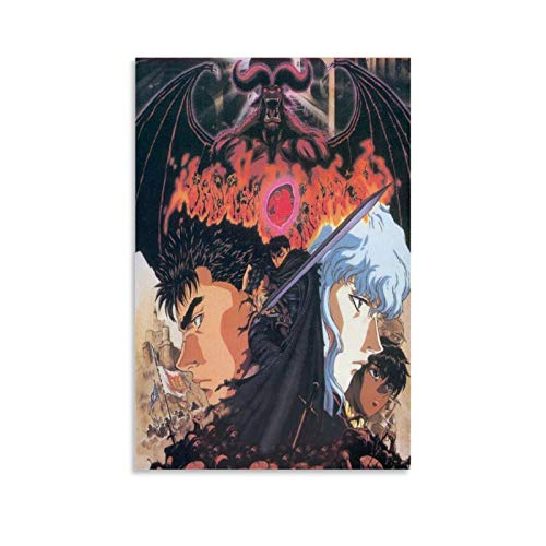 Berserk Guts X Griffith Anime Poster 2 Canvas Art Poster and Wall Art Picture Print Modern Family Bedroom Decor Posters 12x18inch(30x45cm)