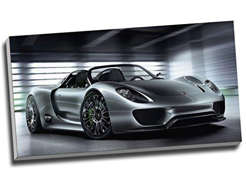 Porsche 918Hypercar Super Wall Art Print auf Leinwand Bild Leinwand Prints 76,2x 40,6cm (76.2cm x 40,6cm)