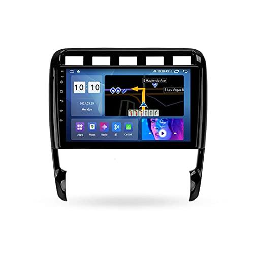 ADMLZQQ Autoradio Coche Bluetooth 2 DIN Android Radio De Coche 9'' Pantalla Táctil 5G WiFi Plug and Play Completo RCA Soporte Carautoplay/GPS/Dab+/OBDII para Porsche Cayenne 2002-2010,M200s