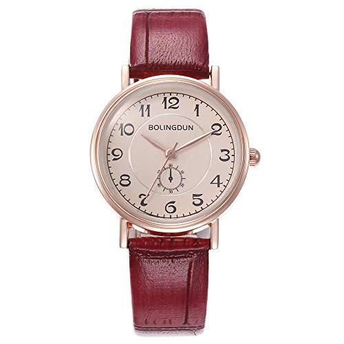 xy Relojes para Mujer Mujer Reloj DE Lugares Reloj DE Lujo Reloj DE CUTOMA DE CURTUROS DIAL DIAL Casual BRACELE Reloj Mujer Mujer Bayan KOL SAATI # W (Color : Coffee)