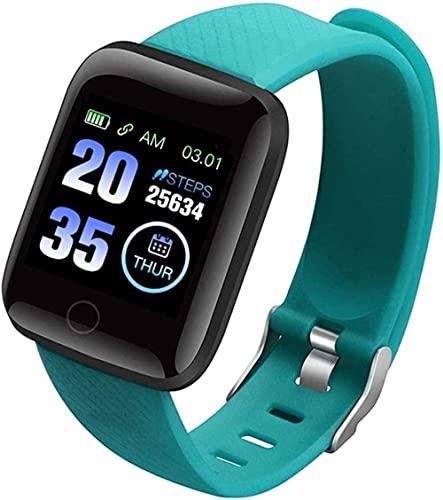 Relojes inteligentes Pulsera de frecuencia cardíaca Fitness Tracker Reloj de medición de la presión arterial, podómetro, banda inteligente impermeable (color: verde)-verde