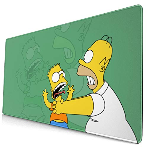Large Game Anime The Simpsons Mouse Pad with Stitched Edge Anti-Slip Mouse Mat Extended Mousepads for Laptop Computer Keyboard
