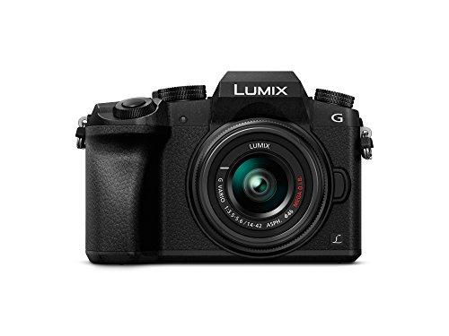 Panasonic Lumix DMCG7/DMCG70 1442 / 3.55.6 Lumix G Vario OIS ASPH Appareils Photo Numériques 16.84 Mpix Noir Version étrangère