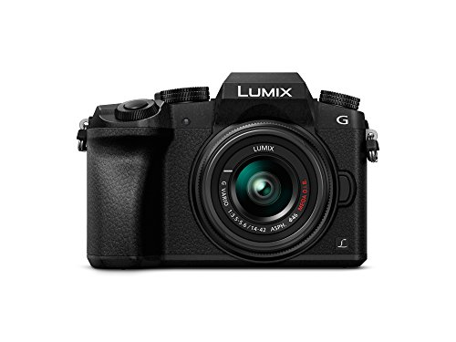Panasonic Lumix DMC-G7 - Kit Cámara Digital DE 16 MP y Objetivo Standard Zoom LUMIX G Vario 14-42 mm, Color Negro, [versión importada]