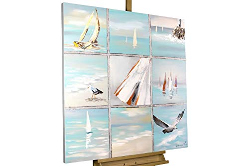 KunstLoft® Acryl Gemälde 'Fernweh Feeling' 80x80cm handgemalt Leinwand Bild