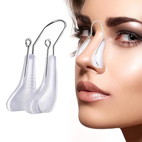 Nose Shaping Clip Magic Nose Lifting Shaper Nose Bridge Straightener Beauty Nose Slimming Rhinoplasty Corrector Device Pain Free Tool Women Men Girls (White)